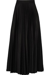 Theory Dorothea Pleated Shell Midi Skirt Black