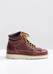 J.W.Anderson Jw Anderson Leather Hiking Boots Burgundy