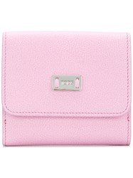 Tod's Logo Plaque Wallet Pink And Purple