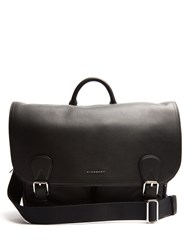 Burberry Wilbury Grained Leather Satchel Black