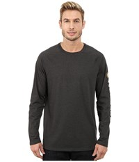 Carhartt Big Tall Force Cotton Delmont Sleeve Graphic T Shirt Carbon Heather Men's Long Sleeve Pullover Gray