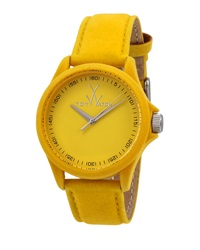 Toywatch Sartorial Washed Leather Watch Yellow
