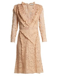 Altuzarra Ourika Valencienne Lace Dress Beige