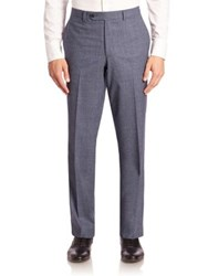 Saks Fifth Avenue Heathered Wool Trousers Light Blue