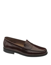 Johnston And Murphy Pannell Leather Penny Loafers Burgundy