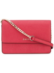 Dkny Mini Flap Crossbody Bag Women Cotton Leather One Size Red