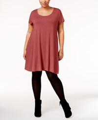 Style And Co Co. Plus Size Short Sleeve Swing Dress Only At Macy's Pimpernel