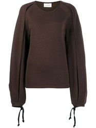 Christophe Lemaire Tied Cuffs Jumper Brown