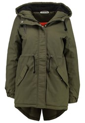 Noisy May Petite Nmthule Parka Ivy Green