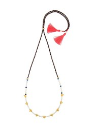 Lizzie Fortunato Jewels Simple Tooth Necklace Pink Purple