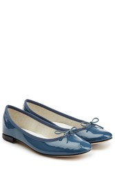 Repetto Cendrillon Patent Leather Ballerinas Blue