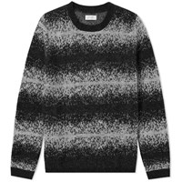 Saturdays Surf Nyc Wade Ombre Stripe Crew Knit Grey