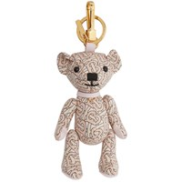 Burberry Pink Leather Monogram Thomas Keychain