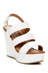 Elegant Footwear Summer Platform Wedge Sandal White