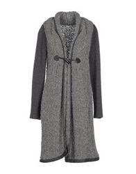 Philosophy Di Alberta Ferretti Full Length Jackets Grey