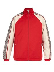 Gucci Gg Jersey Track Top Red Multi