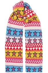 Chinti And Parker Ski Party Wool Scarf Pink