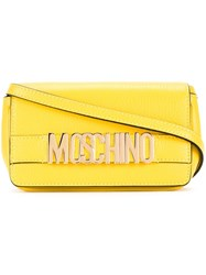 Moschino Logo Plaque Crossbody Bag Yellow And Orange