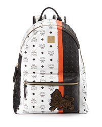 Munich Lion Backpack White Mcm