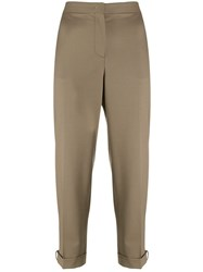 Fabiana Filippi Classic Cropped Chinos Brown