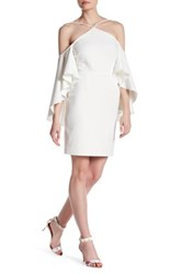 Alexia Admor Flutter Sleeve Dress White