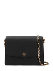 Tory Burch Robinson Leather Shoulder Bag Black