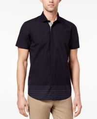 Ryan Seacrest Distinction Men's Slim Fit Navy Stripe Sport Shirt Created For Macy's Navy Degrade