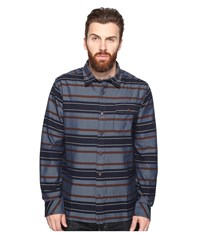 O'neill Badlands Flannel Woven Blue Men's Clothing