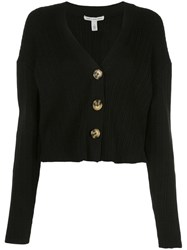 Autumn Cashmere Knitted Cardigan Black