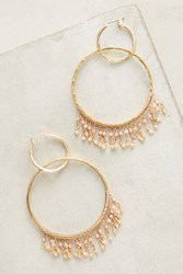 Anthropologie Double Fringe Hoops Gold
