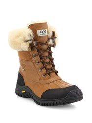 Ugg Adirondack Ii Lace Up Shearling Lined Leather Boots Otter