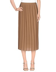 Kaos Skirts 3 4 Length Skirts Women Camel