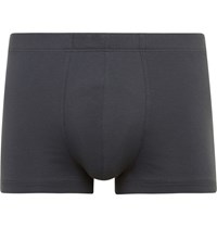 Hanro Stretch Cotton Boxer Briefs Gray