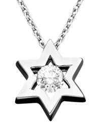 Effy Collection Effy Diamond Diamond Star Of David Pendant 1 5 Ct. T.W. In 14K White Gold