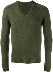 Etro Distressed Jumper Green