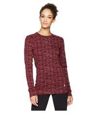 Smartwool Nts Mid 250 Pattern Crew Top Fig Long Sleeve Pullover Brown