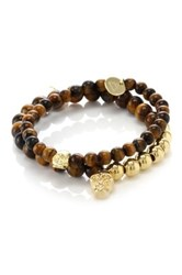 Marz The Divide Bracelet Set Brown