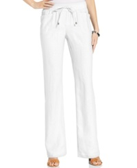 Style And Co. Wide Leg Linen Drawstring Pants