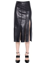 Nina Ricci Paneled Nappa Leather Skirt