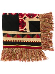 Etro Fabric Mix Scarf Black