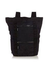 Mt. Rainier Design Rope Nylon Backpack Black
