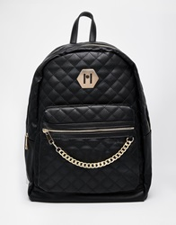 Aldo Pu Backpack With Chain Detail Black