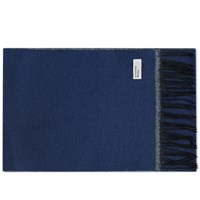 Universal Works Double Sided Scarf Blue