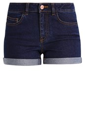 Noisy May Petite Nmbe Lucy Denim Shorts Dark Blue Denim Dark Blue Denim