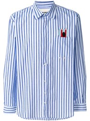 Henrik Vibskov Pillow Striped Shirt Blue