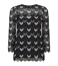 Escada Nynemia Chevron Lace Top Female Black