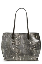 Etienne Aigner 'Penn' Leather Tote Grey Smoke Multi Snake