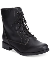 Sporto Julie Lace Up Booties Women's Shoes Black