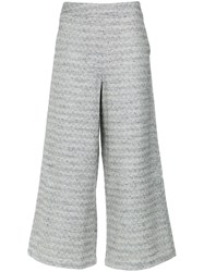 Lilly Sarti Herringbone Patterned Culottes Multicolour