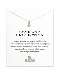 Dogeared Love And Protection Sterling Silver Hamsa Necklace Gold